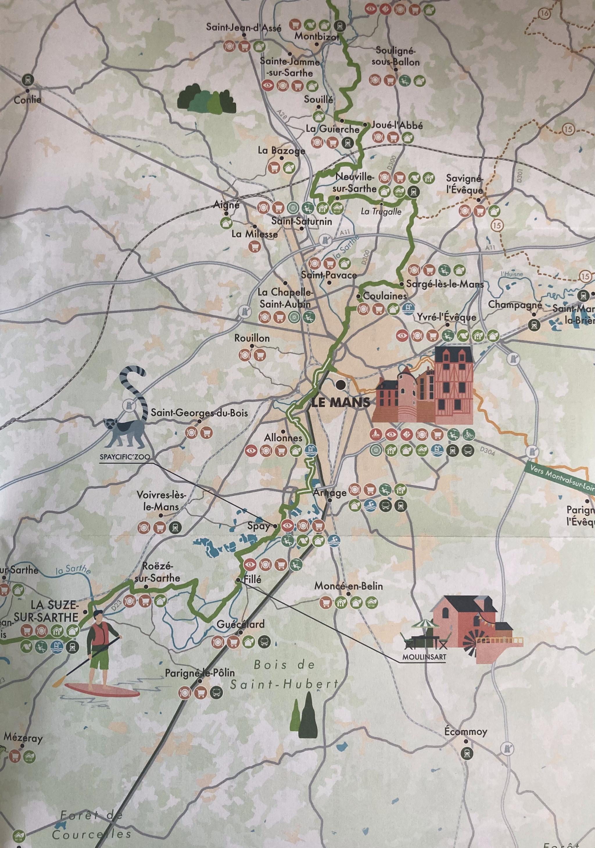 Plan de la vélobuissonnière